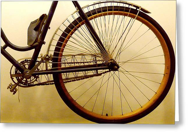 Remington Photographs Greeting Cards - Vintage Remington Bike Greeting Card by Lori Seaman