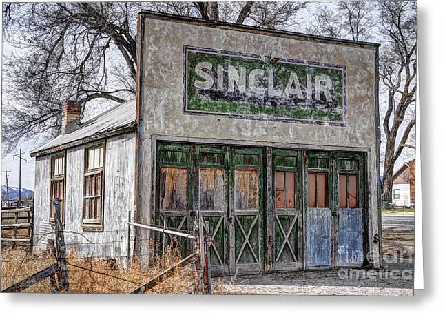 Historic Country Store Greeting Cards - Vintage Rural Gas Station - Elberta Utah Greeting Card by Gary Whitton
