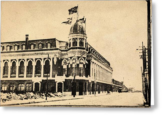 Vintage Shibe Park In Sepia Greeting Card by Digital Reproductions