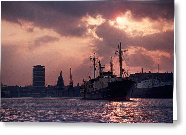 Enterprise Greeting Cards - Vintage Shot Of The Guinness Boat Lady Greeting Card by Panoramic Images