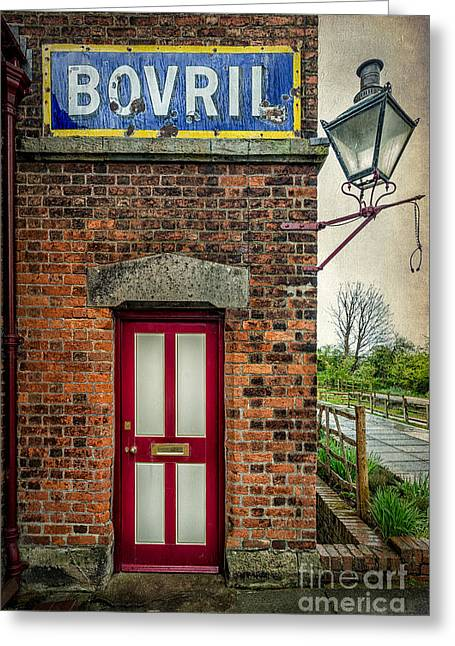 Disused Greeting Cards - Vintage Sign Greeting Card by Adrian Evans
