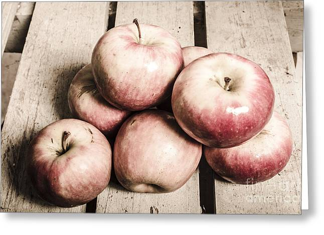 Vintage Still-life Apples Greeting Card by Jorgo Photography - Wall Art Gallery