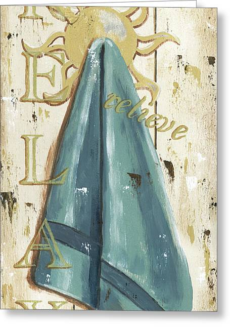 Vintage Sun Beach 2 Greeting Card by Debbie DeWitt
