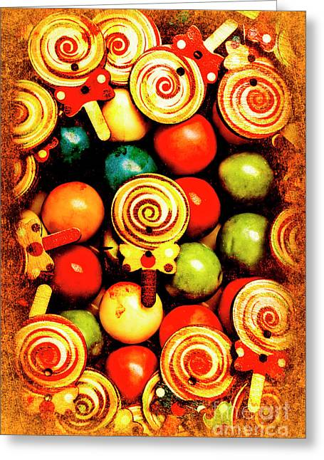 Vintage Sweets Store Greeting Card by Jorgo Photography - Wall Art Gallery