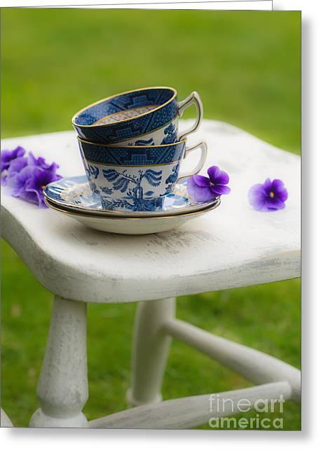 Vintage Teacup Greeting Cards - Vintage Teacups Greeting Card by Amanda And Christopher Elwell