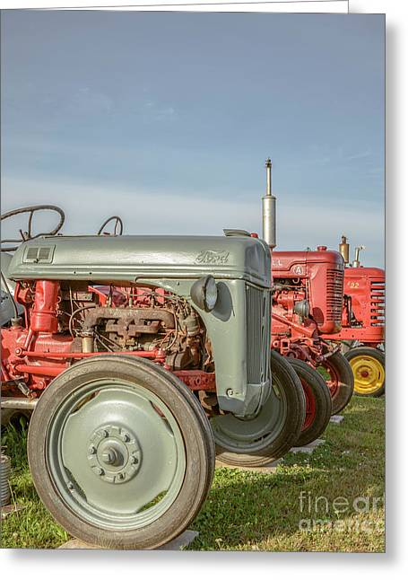 Vintage Tractors Prince Edward Island Greeting Card by Edward Fielding