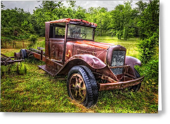 Ford Model T Car Greeting Cards - Vintage Treasure Greeting Card by Debra and Dave Vanderlaan