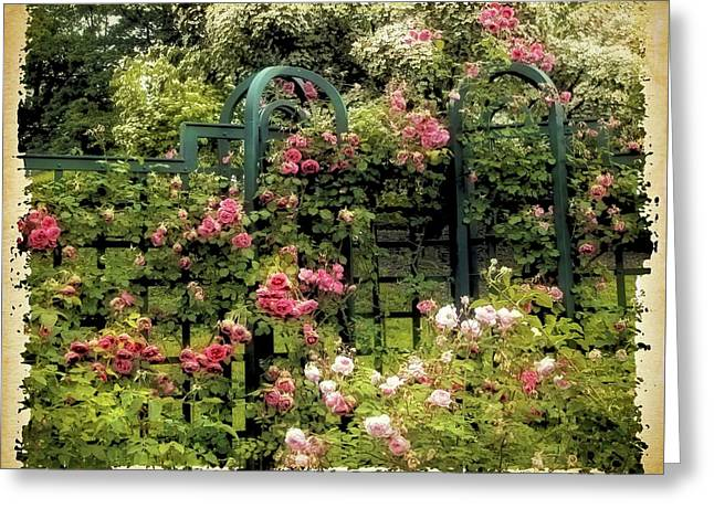 Vintage Trellis Greeting Card by Jessica Jenney
