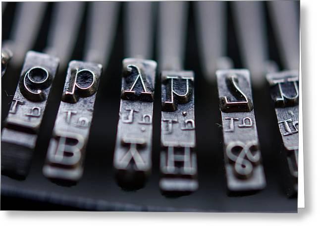 Vintage Typewriter Keys Greeting Card by June Marie Sobrito