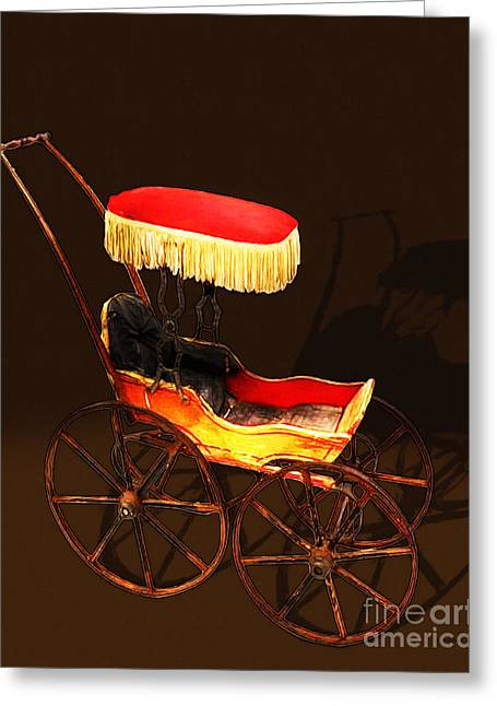 Vintage Victorian Stroller 20150921 Greeting Card by Wingsdomain Art and Photography