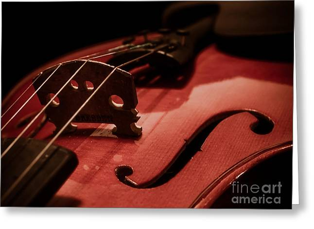 Valerie Morrison Greeting Cards - Vintage Violin Greeting Card by Valerie Morrison