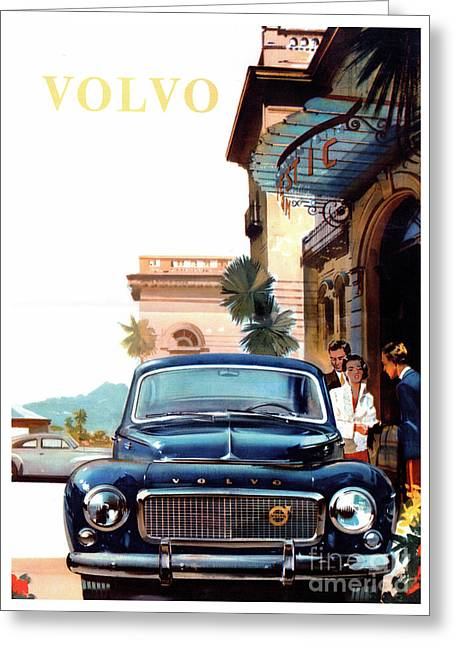Vintage Automobiles Greeting Cards - Vintage Volvo Advertisement Greeting Card by Jon Neidert
