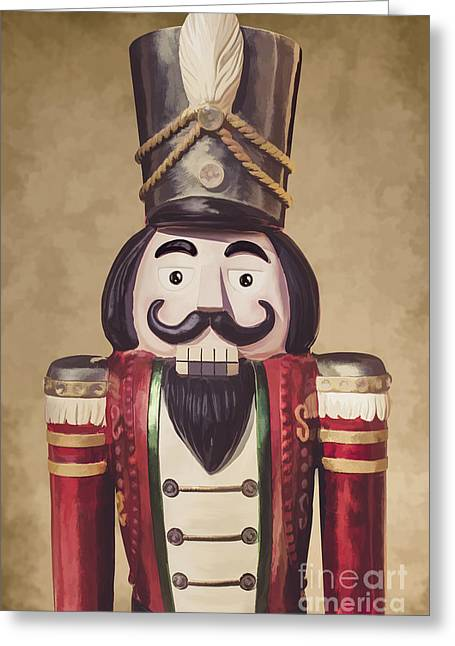 Vintage Wooden Toy Soldier Greeting Card by Jorgo Photography - Wall Art Gallery