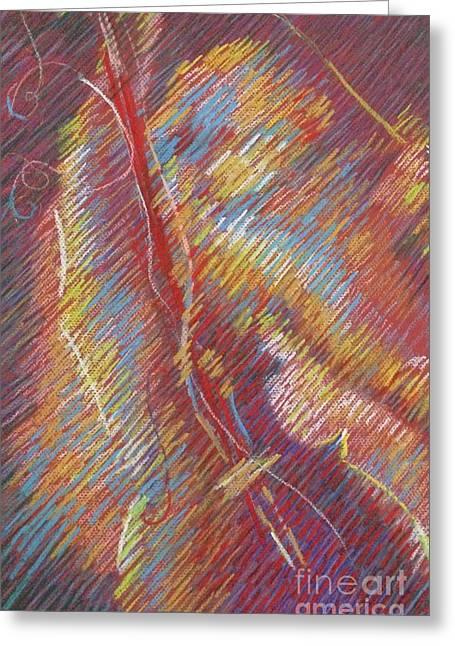 Intimacy Pastels Greeting Cards - Viola Greeting Card by Nelya Pinchuk