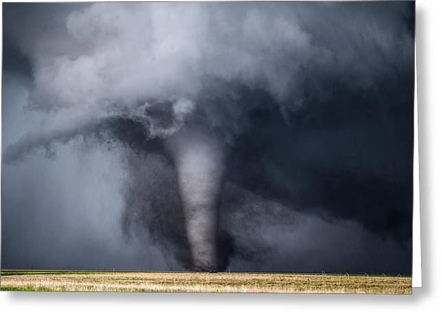 Violent Tornado Greeting Card by Francis Lavigne-Theriault