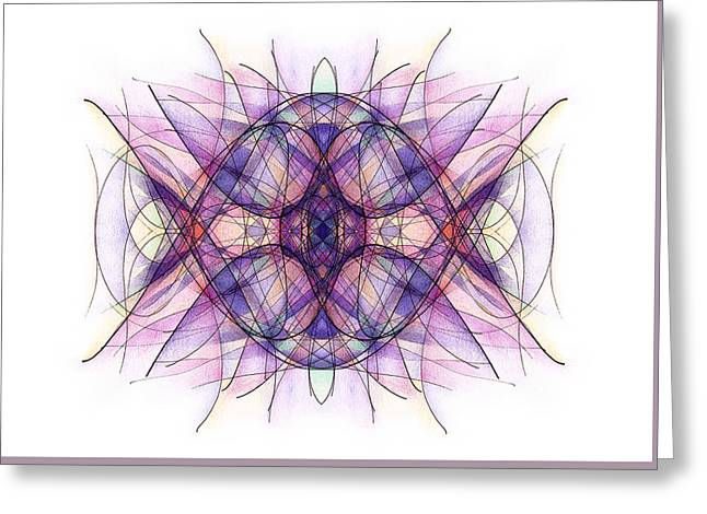 Sahasrara Greeting Cards - Violet Greeting Card by Alla Ilencikova