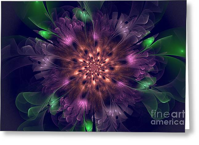 Naturalistic Digital Greeting Cards - Violet Beauty Greeting Card by Amelia Macioszek