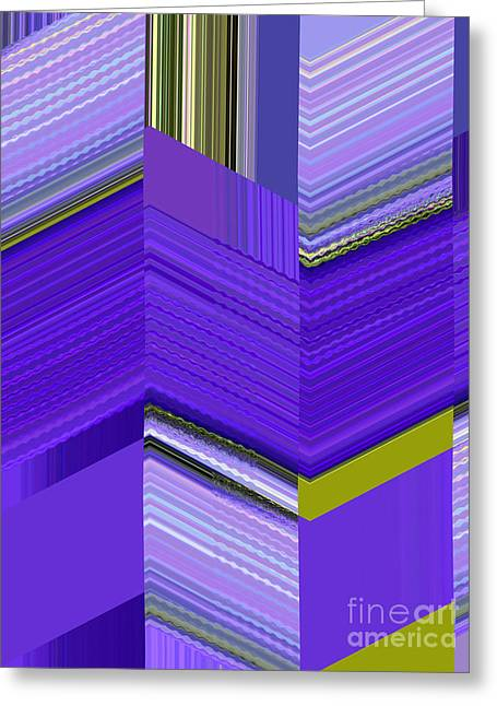 Rectangles Greeting Cards - Violet Glass Cubes Greeting Card by Ann Johndro-Collins