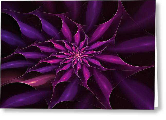 Festivities Greeting Cards - Violet Starburst Greeting Card by Doug Morgan