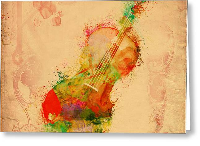 Violin Dreams Greeting Card by Nikki Marie Smith