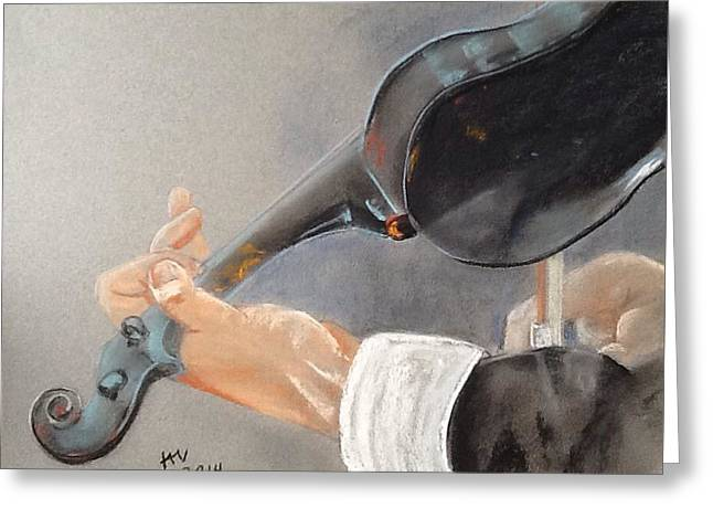 Orchestra Pastels Greeting Cards - Violin Greeting Card by Janice Curry