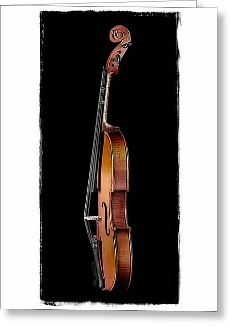 Violin Profile 2 Greeting Card by Patrick Chuprina