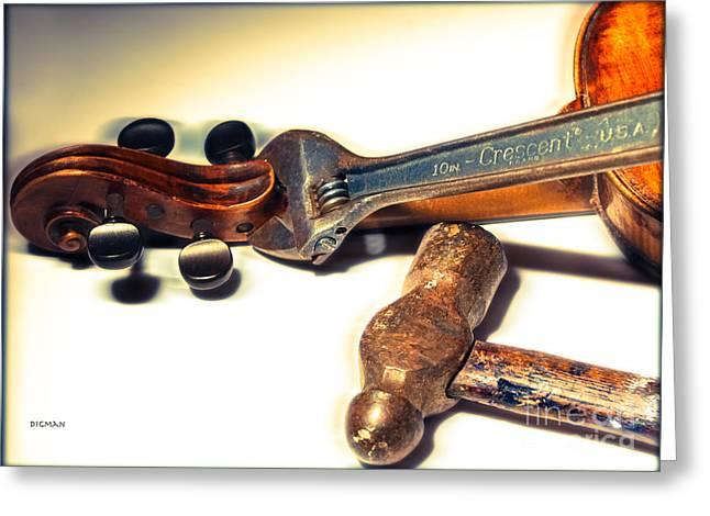 Violin Digital Greeting Cards - Violin Repair  Greeting Card by Steven  Digman