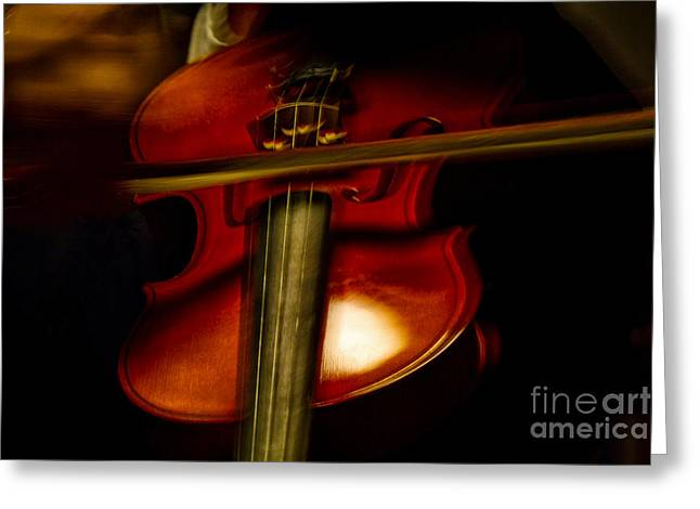 Playing Musical Instruments Greeting Cards - Violin Tones Greeting Card by Naman Imagery