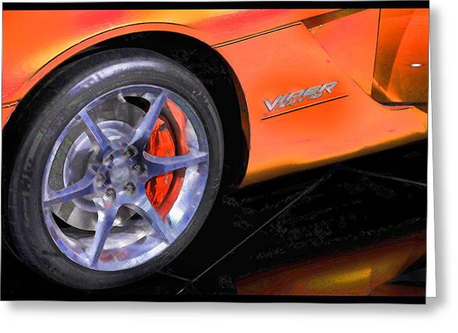 Viper Digital Art Greeting Cards - Viper Wheel Greeting Card by Donald Schwartz