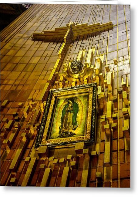 Nuestra Senora De Guadalupe Greeting Cards - Virgen de Guadalupe 10 Greeting Card by Totto Ponce