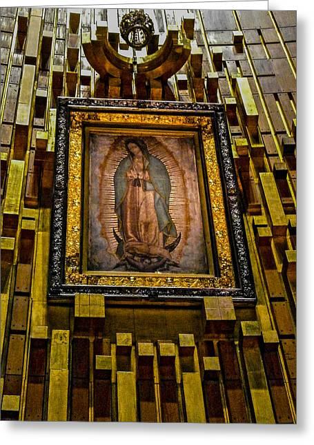 Nuestra Senora De Guadalupe Greeting Cards - Virgen de Guadalupe 6 Greeting Card by Totto Ponce