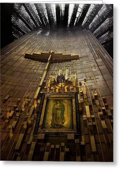 Nuestra Senora De Guadalupe Greeting Cards - Virgen de Guadalupe 9 Greeting Card by Totto Ponce