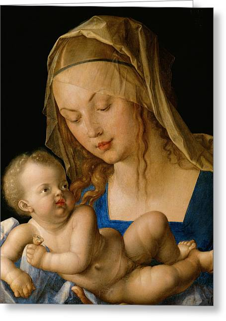 Virgin And Child With A Pear Greeting Card by Albrecht Durer