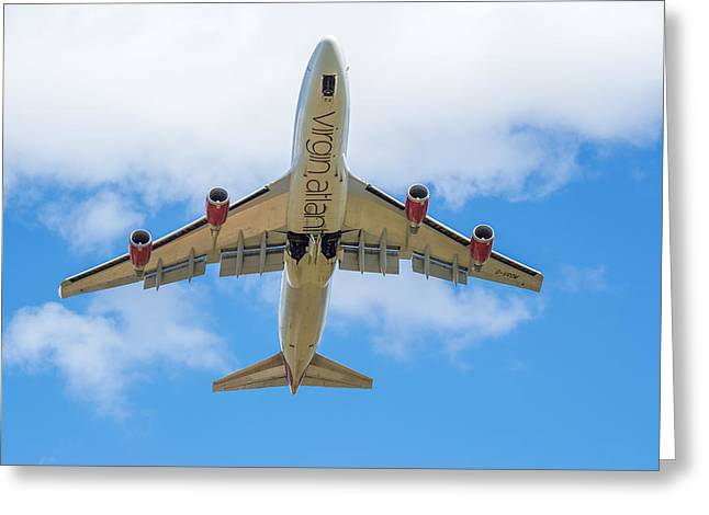 Commercial Photography Greeting Cards - Virgin Atlantic Boeing 747 Greeting Card by Craig Russell