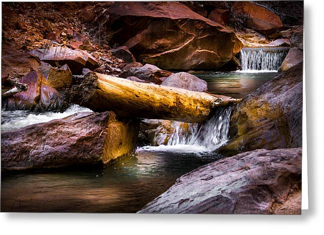 Southern Utah Greeting Cards - Virgin River Greeting Card by Ron Broad