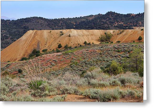 Mining Photos Digital Greeting Cards - Virginia City Mine Tailings Greeting Card by Linda Phelps