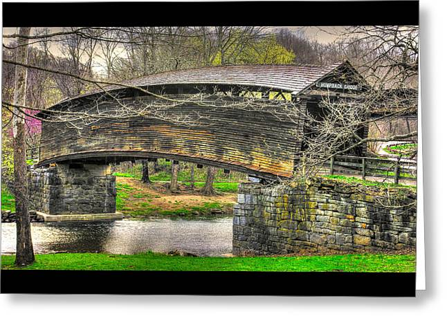 Virginia Country Roads - Humpback Covered Bridge Over Dunlap Creek #14a - Spring, Alleghany County Greeting Card by Michael Mazaika