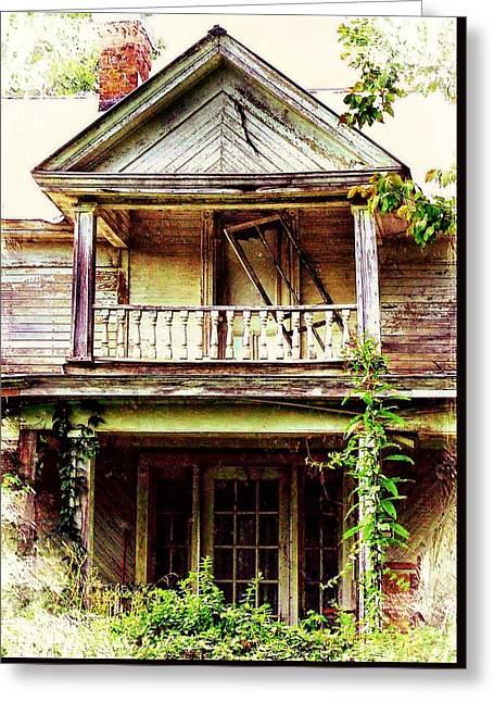 Virginia Mansion Greeting Card by Julie Dant