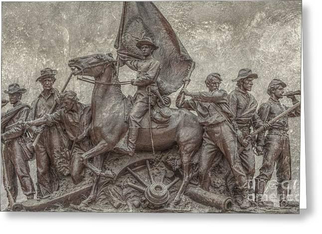 Virginia Monument Gettysburg Battlefield Greeting Card by Randy Steele