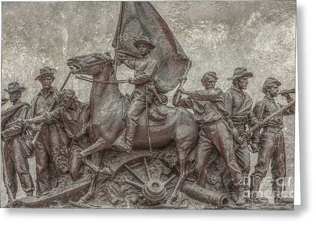Best Sellers -  - Statue Of Confederate Soldier Greeting Cards - Virginia Monument Gettysburg Battlefield Greeting Card by Randy Steele