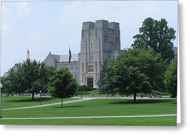 Hokies Greeting Cards - Virginia Tech - Burress Hall 3 Greeting Card by Andrew Webb