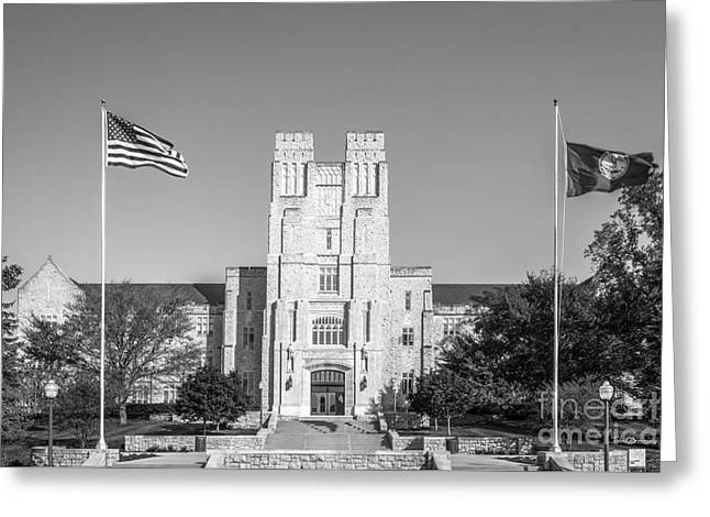 Virginia Tech Burress Hall Greeting Card by University Icons