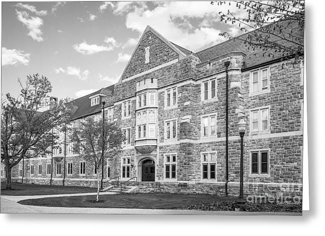 Virginia Tech Campbell Hall Greeting Card by University Icons