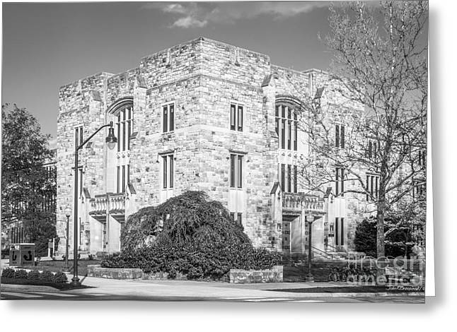 Virginia Tech Newman Library Greeting Card by University Icons