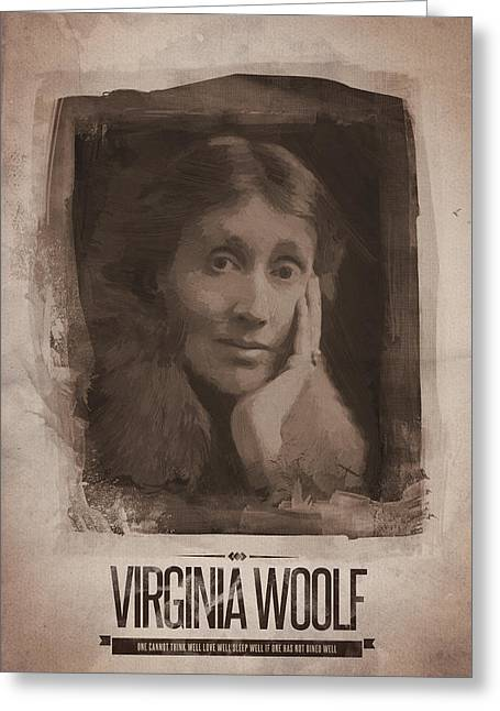 Virginia Woolf Greeting Card by Afterdarkness