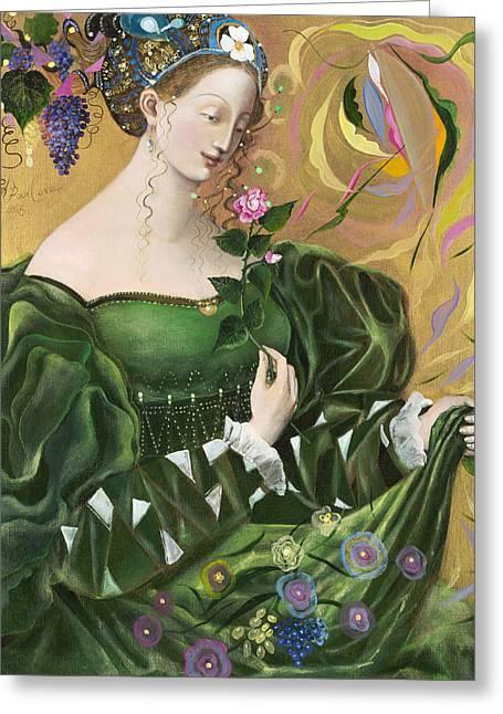 Virgo Greeting Card by Annael Anelia Pavlova