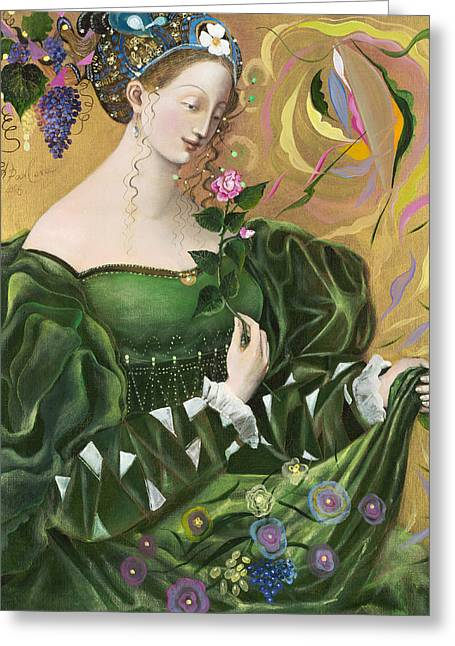Grapevine Greeting Cards - Virgo Greeting Card by Annael Anelia Pavlova