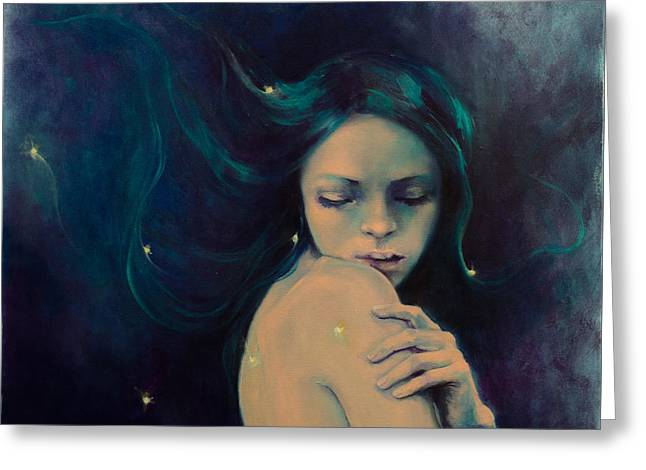 Astral Greeting Cards - Virgo Greeting Card by Dorina  Costras