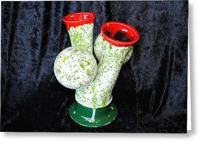 Virility Vase Greeting Card by John Johnson