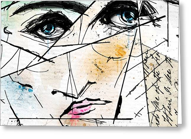 Abstract Faces Greeting Cards - Visage Abstrait Greeting Card by Gary Bodnar